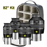 Explore Scientific 6.7, 11, 18 and 30mm Argon-Purged Waterproof Eyepiece 82° Set with soft case