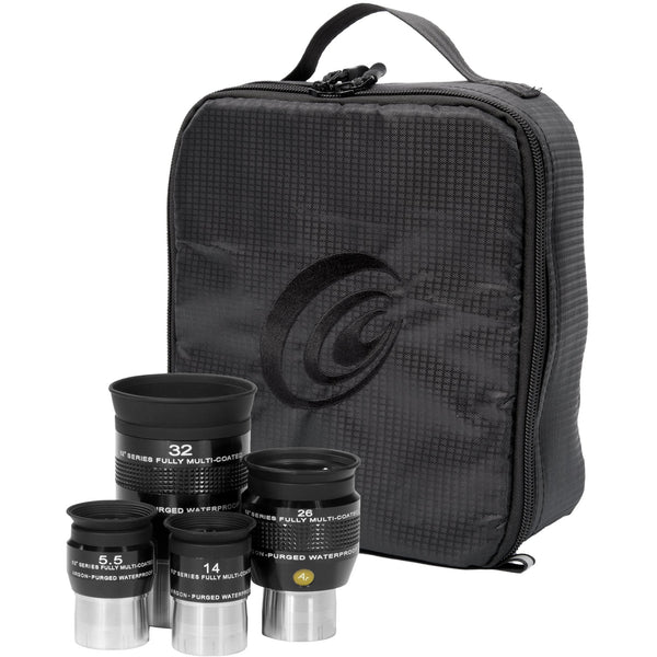 Explore Scientific 5.5, 14, 26 and 32mm Argon-Purged Waterproof Eyepiece 62° Set with soft case