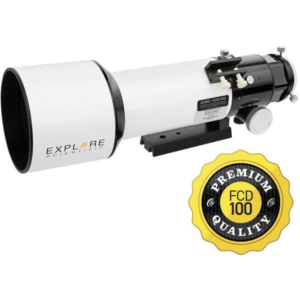 Explore Scientific Classic White Aluminum ED80 f/6 APO Triplet with Hoya FCD100 optics