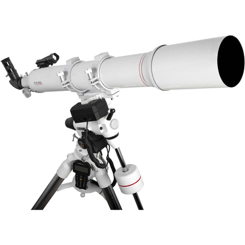 FirstLight AR102mm White Tube Refractor Telescope with white EXOS-2 GoTo Mount