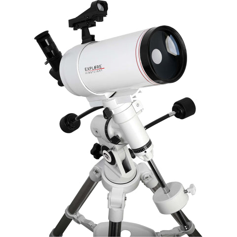 FirstLight MAK100mm White Tube Maksutov-Cassegrain Telescope with EXOS Nano