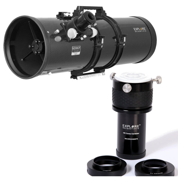 Explore Scientific Carbon Fiber Newtonian 208mm f/3.8 Telescope + Coma Corrector Bundle