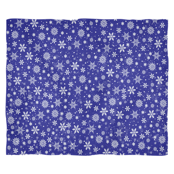 Dark Blue Snowflake Super Plush Soft Fleece Blanket
