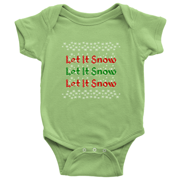 Let It Snow Baby Onesie