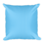 Blue Snowflakes Square Pillow - pillow insert included