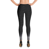 Snow Falling in the Darkness Leggings