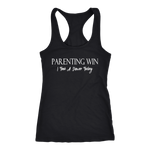 """Parenting Win, I Took A Shower Today"" Racerback Tank"