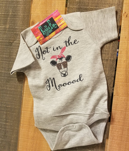 Not In The Mood - S/S One Piece - Infant - Gray