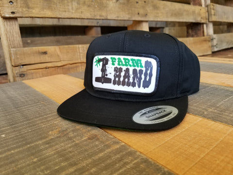 Dads #1 Farm Hand Black Snap Back - Toddler Hat