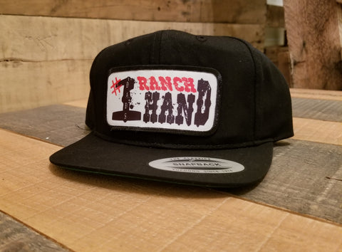 Dad's #1 Ranch Hand Black Snap Back - Toddler Hat