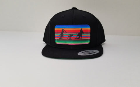 Serape Team Ropers Youth Snap Back Hat - Black