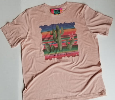 Serape Cactus - S/S Toddler Tee - Dusty Rose