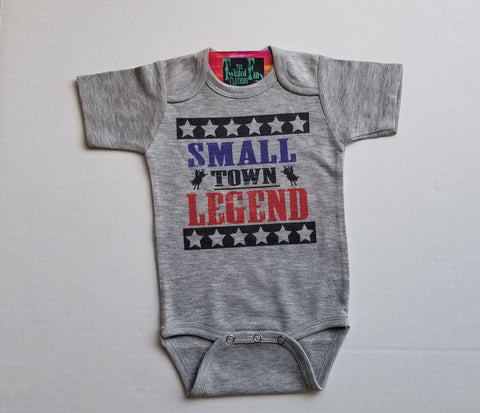 Small Town Legend - S/S One Piece - Infant - Gray