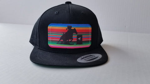 Serape Barrel Racer Youth Snap Back Hat - Black