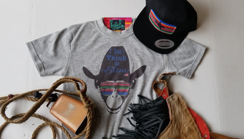 Monkey Cowboy Hat - S/S Tee - Grey
