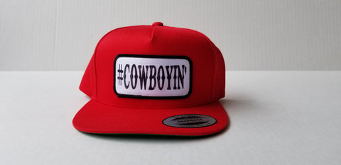 #Cowboyin' Youth Snap Back Hat - Red