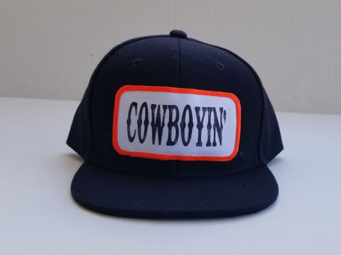 Cowboyin- Neon Orange Toddler Snapback