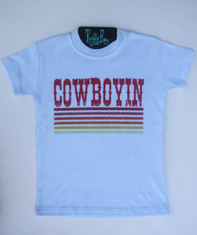 Retro Cowboyin' S/S Toddler Tee - Ice Blue