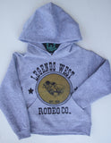 Legends West Mutton Bustin' -  Toddler Hoodie - Grey