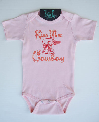 Kiss Me Cowboy - S/S One Piece - Pink
