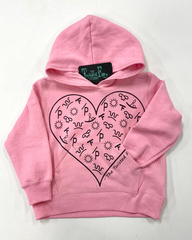 The Branded Heart - Toddler Hoodie - Pink
