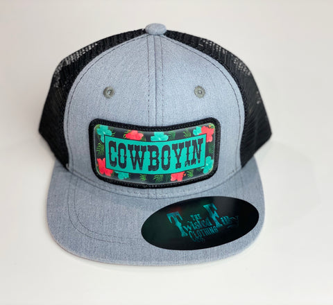 Cowboyin' 5.0 Blk + Gray Trucker Snapback - Toddler Hat
