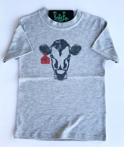Calf W/ Ear Tag - Grey