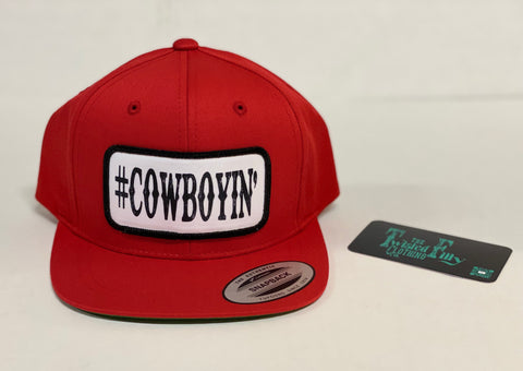 #Cowboyin' Toddler Snap Back Hat - Red