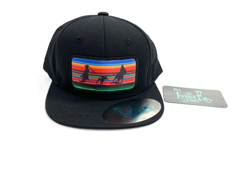 Serape Team Roper Black Snapback Hat Toddler