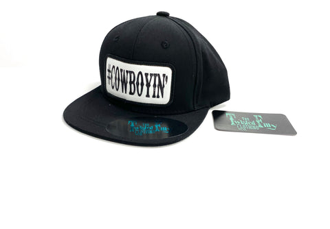#Cowboyin' Black Snap Back - Toddler