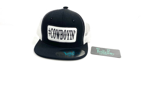 #Cowboyin - Toddler Trucker - Blk + Wht