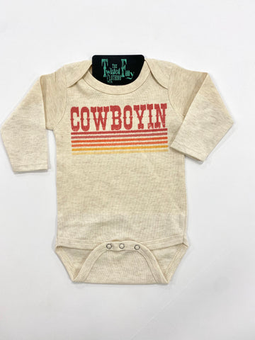Retro Cowboyin' - L/S One Piece - Oatmeal