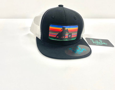Serape Barrel Racer - Toddler Trucker - Blk + Wht