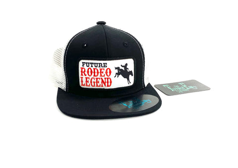 Future Rodeo Legend (Bronc) - Toddler Trucker - Blk + Wht