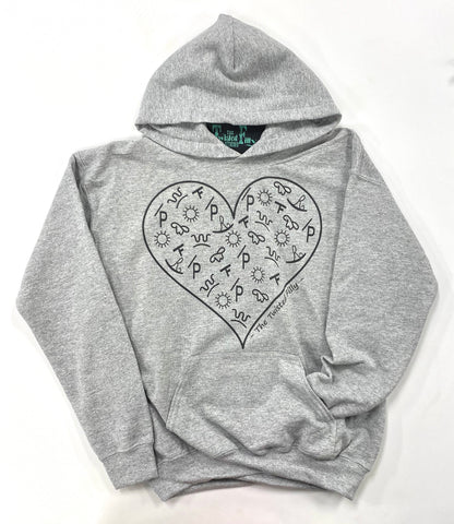 The Branded Heart - Youth Hoodie - Grey