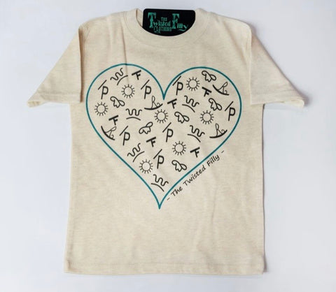 The Branded Heart - S/S Toddler Tee - Oatmeal