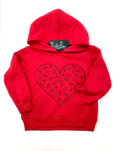 The Branded Heart - Youth Hoodie - Red