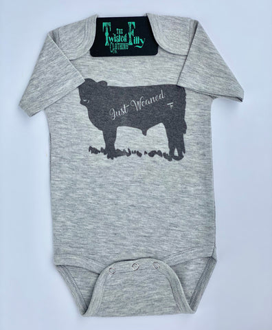 Just Weaned - S/S One Piece - Grey