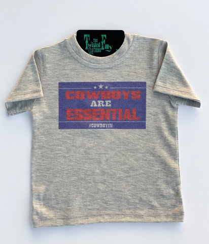 Cowboys Are Essential - S/S Tee - Grey