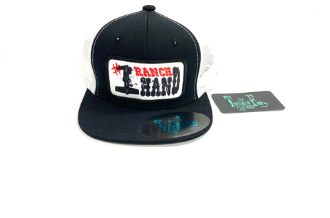 #1 Ranch Hand - Toddler Trucker - Blk + Wht