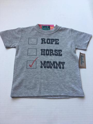 Rope Horse Mommy S/S Toddler Tee Gray
