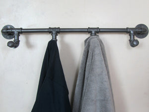Rustic Iron Pipe Wall Mounted Towel/Coat Rack - GNRL Store