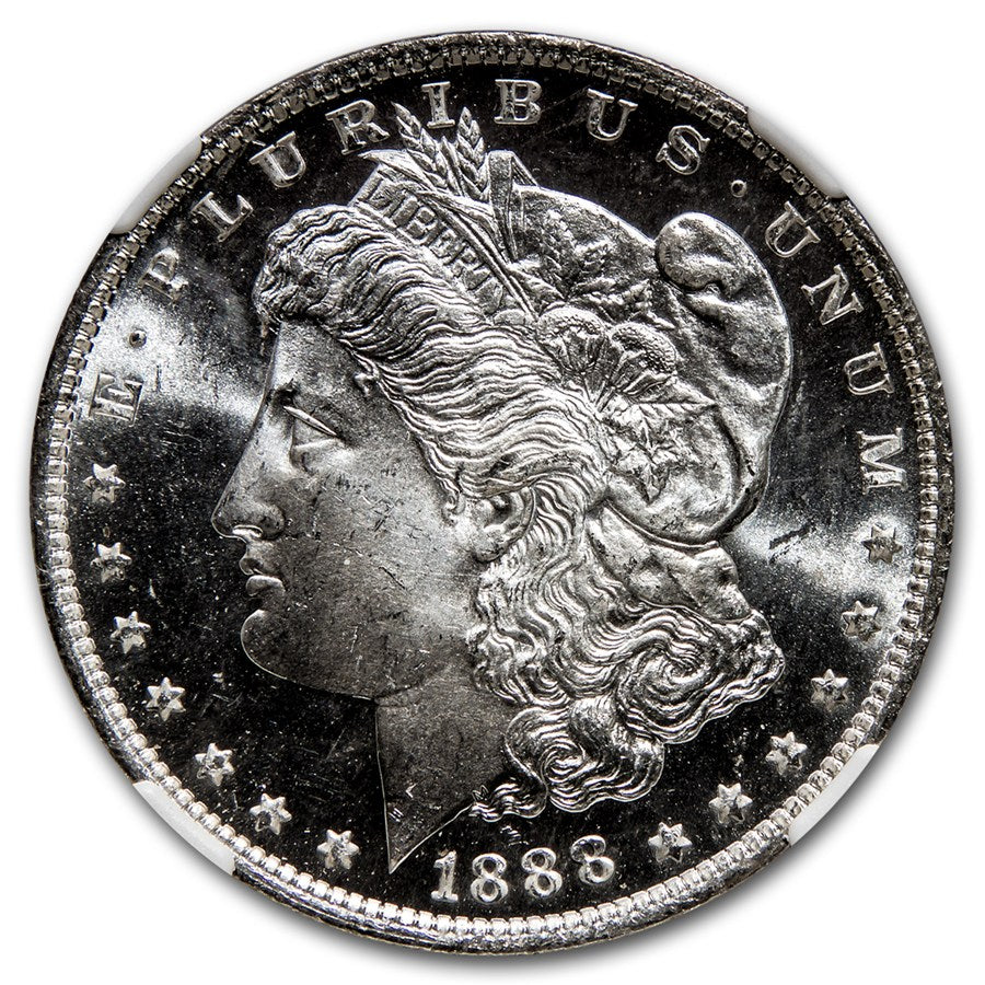 1888-O Morgan Dollar- .77oz Silver Coin- Graded MS-65+ DPL New Orleans
