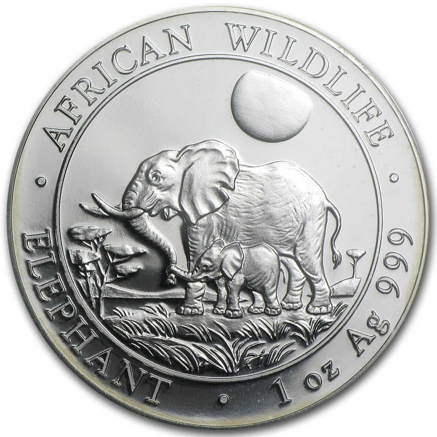 2011 Somalia 100 Shillings 1oz Silver Coin- African Elephant- Graded PR-69 PCGS - Coins Curated