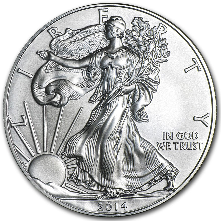 2014-W Burnished Silver American Eagle- Box COA- 1oz Silver Coin - Coins Curated