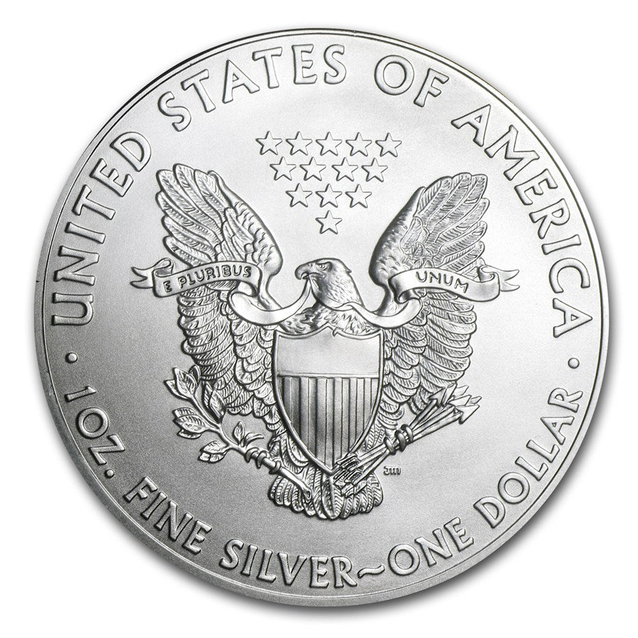 2014 Silver American Eagle- 1oz Silver Coin BU - Coins Curated