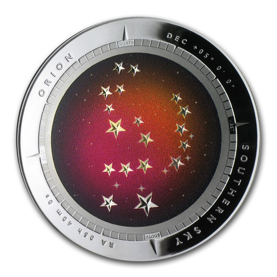 2014 Southern Sky ORION- 1oz Australia Proof Silver- Graded Proof PF69 Color Domed