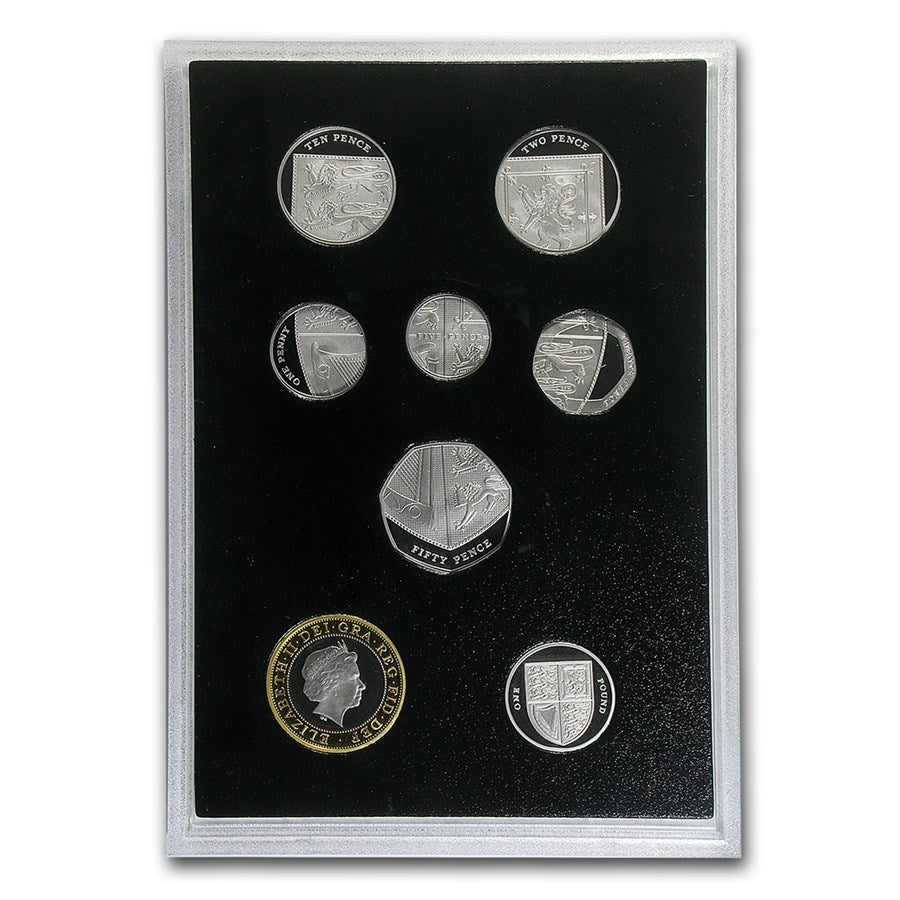 2015 16-Coin Platinum Fourth & Fifth Portrait Collection- Great Britain 8oz Set