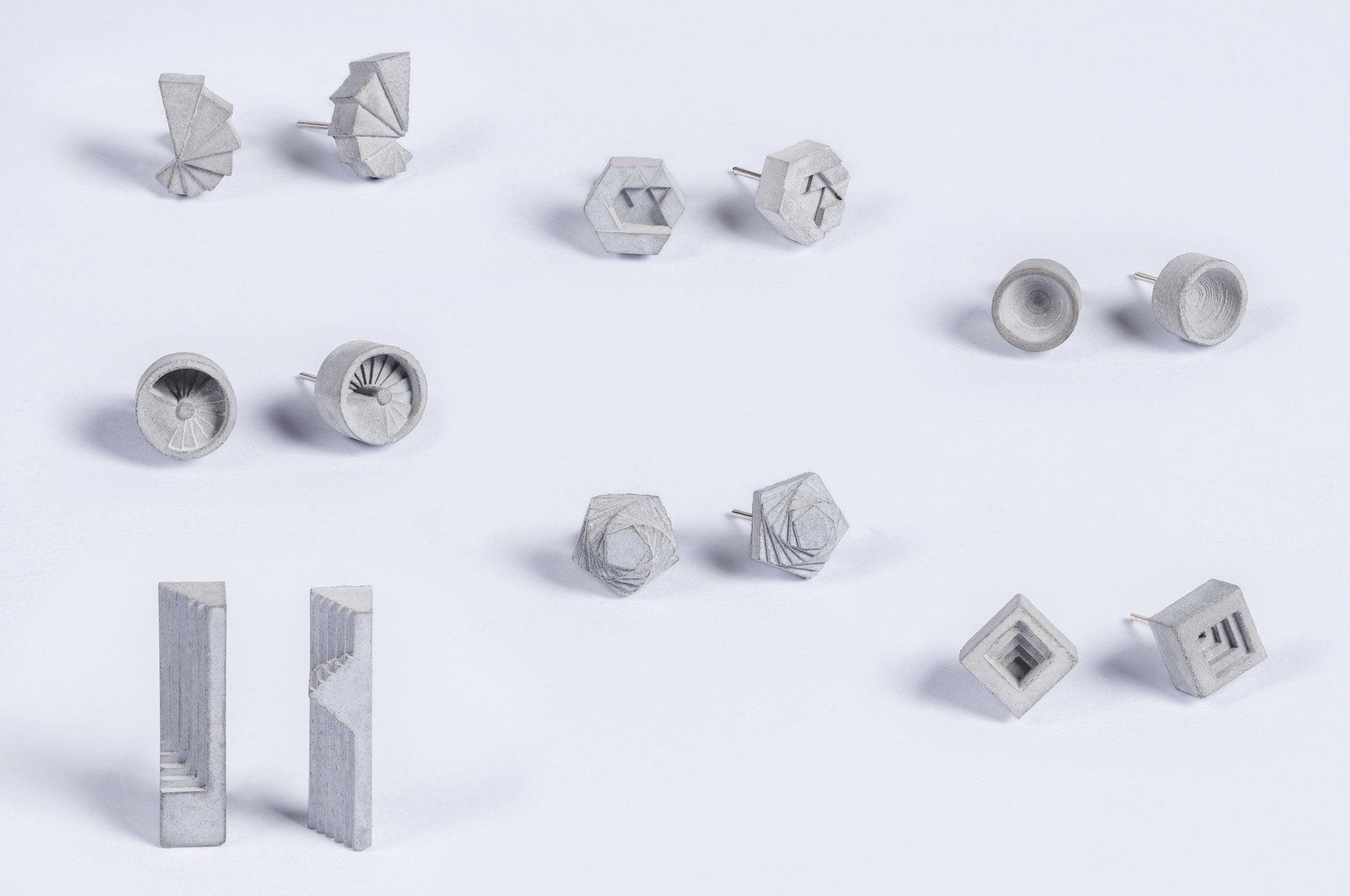 Micro Concrete Earrings (Complete Set)