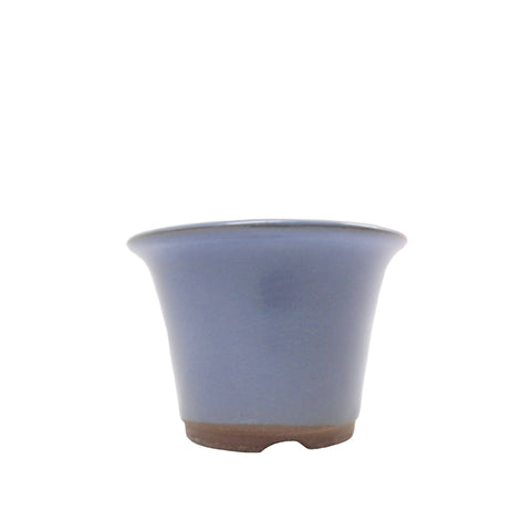 "3.75"" Tokoname Blue Round Pot"
